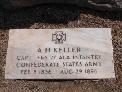 AH Keller Tombstone Photo, Click for full size