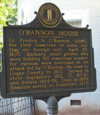 O'Bannon House Marker Photo, Click for full size