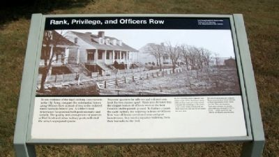 Rank, Privilege, and Officers Row Marker image. Click for full size.