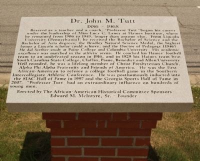 Dr. John M. Tutt Marker Photo, Click for full size