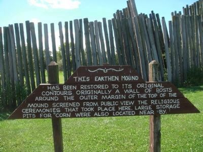 Aztalan Platform Mound Marker Photo, Click for full size