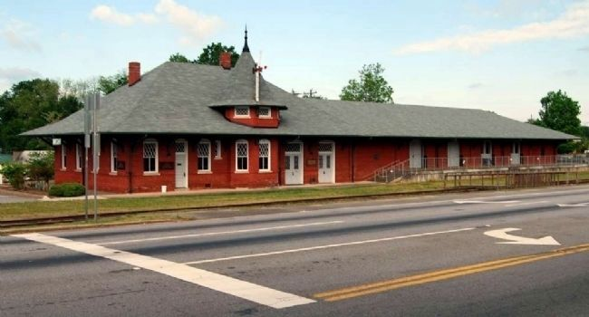 Belton Depot -<br>Front (East) Facade Photo, Click for full size