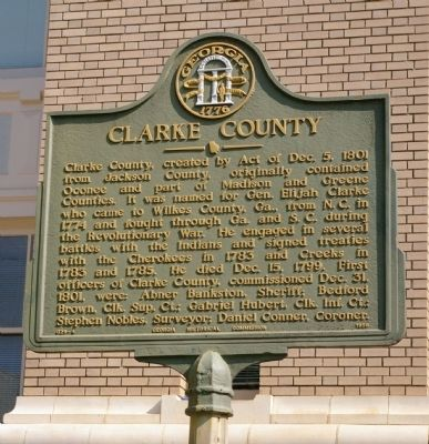 Clarke County Marker image. Click for full size.