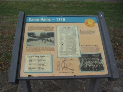 Camp Hains - 1710 Marker image. Click for full size.