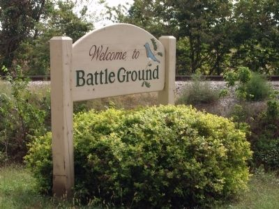 Welcome to Battle Ground - - Sign image. Click for full size.