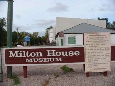 Milton House Museum Sign image. Click for full size.