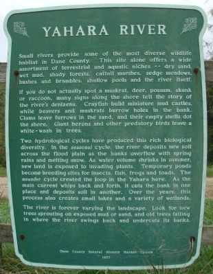 Yahara River Marker image. Click for full size.