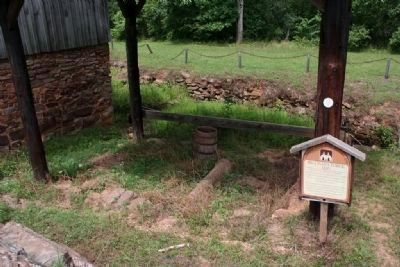Site of the Hillman's Forge next to the blower house. image. Click for full size.
