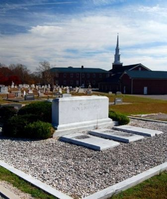 Olin D. Johnston Family Plot<br>Barkers Creek Baptist Church Cemetery image. Click for full size.
