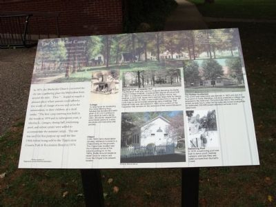 Full View - - The Methodist Camp Marker image. Click for full size.