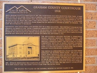 Graham County Courthouse Marker image. Click for full size.