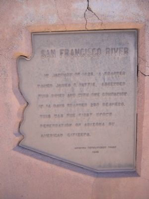 San Francisco River Marker image. Click for full size.