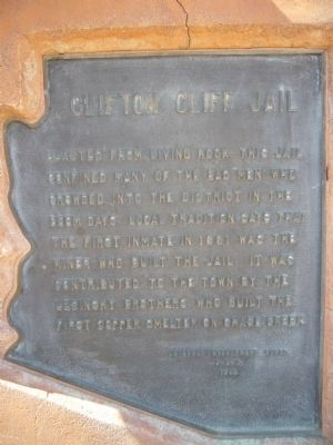 Clifton Cliff Jail Marker image. Click for full size.