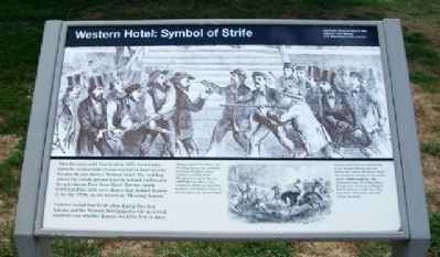 Western Hotel: Symbol of Strife Marker image. Click for full size.