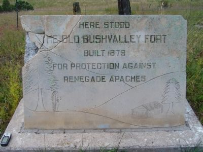 The Old Bushvalley Fort Marker image. Click for full size.
