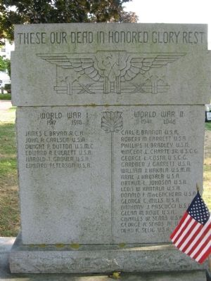 Rockport World War I & II Memorial image. Click for full size.