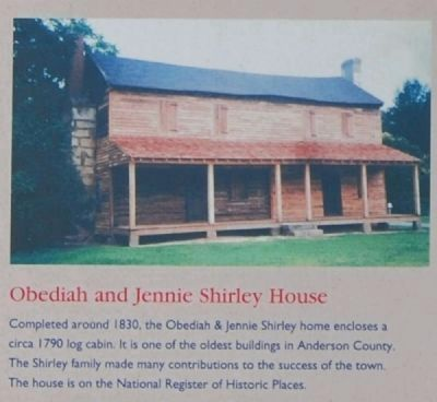 Honea Path - Reverse<br>Obediah and Jennie Shirley House Photo, Click for full size