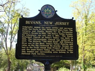 Bevans, New Jersey Marker image. Click for full size.