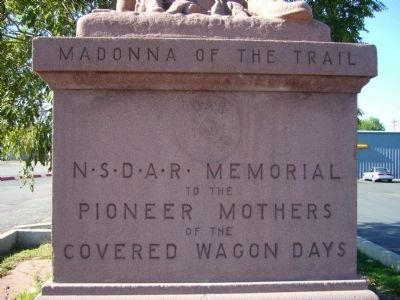 Front of Madonna of the Trail Statue image. Click for full size.