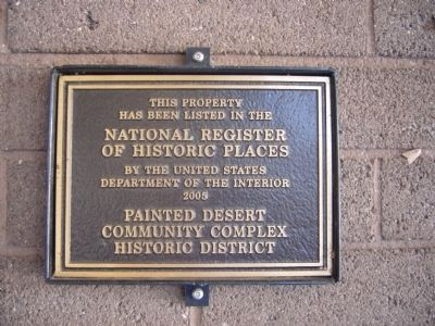 Painted Desert Community Complex Historic District Marker image. Click for full size.