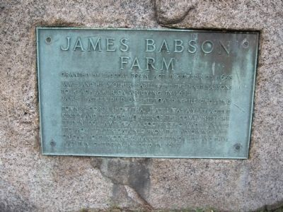 James Babson Farm Marker image. Click for full size.