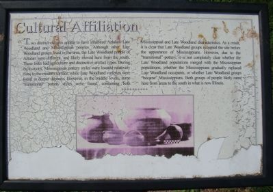 Cultural Affiliation Marker Photo, Click for full size