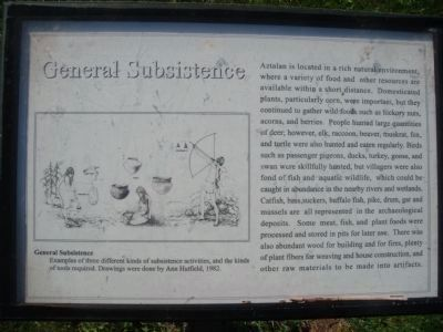 General Subsistence Marker Photo, Click for full size