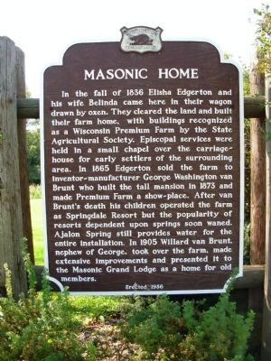 Masonic Home Marker image. Click for full size.