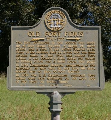 Old Fort Fidius Marker Photo, Click for full size