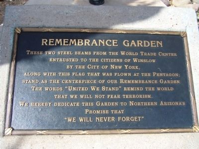 Remembrance Garden Marker image. Click for full size.