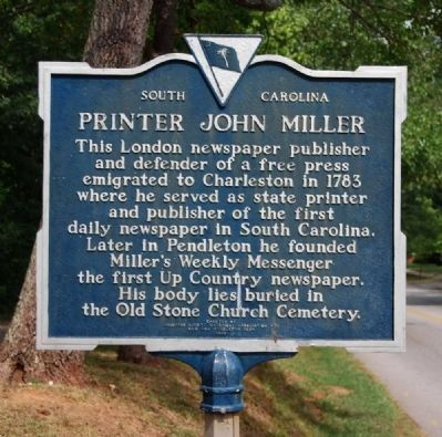 Printer John Miller Marker Photo, Click for full size