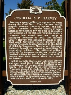 Cordelia A.P. Harvey Marker image. Click for full size.