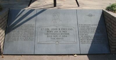 Lt. Col. John B. England Memorial image. Click for full size.