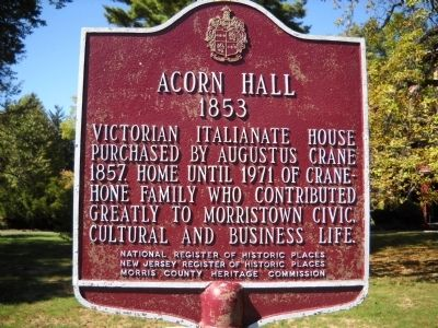 Acorn Hall Marker image. Click for full size.