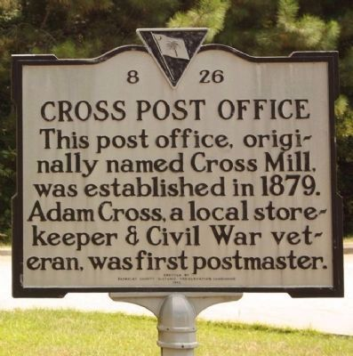 Cross Post Office Marker image. Click for full size.