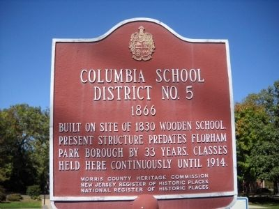 Columbia School District � No.5 Marker image. Click for full size.