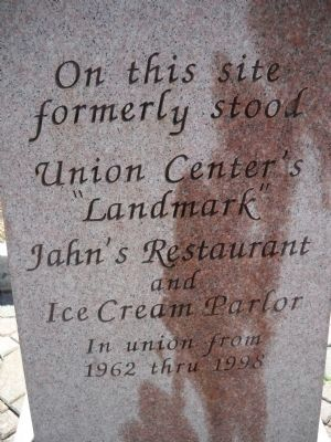 Jahn's Restaurant & Ice Cream Parlor Marker image. Click for full size.