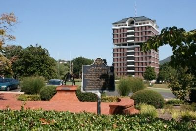 Jacksonville State University Marker with the Houston Cole Library in the background image. Click for full size.