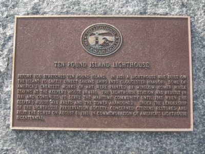 Ten Pound Island Lighthouse Marker image. Click for full size.