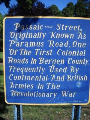 Passaic Street Marker image. Click for full size.