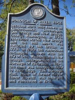 Borough of River Edge Marker image. Click for full size.
