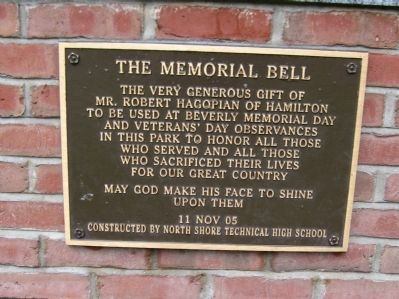 The Memorial Bell Marker image. Click for full size.