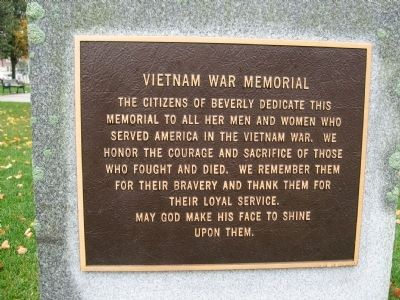 Beverly Vietnam War Memorial Photo, Click for full size