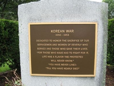 Beverly Korean War Memorial Photo, Click for full size
