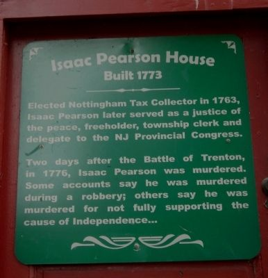 Isaac Pearson House Marker image. Click for full size.