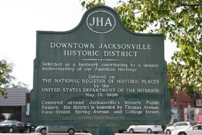 Downtown Jacksonville Historic District Marker image. Click for full size.