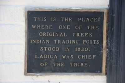 Site of Indian Trading Post Marker image. Click for full size.