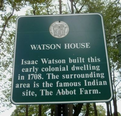 Watson House Marker image. Click for full size.