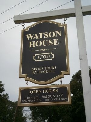 Watson House sign image. Click for full size.