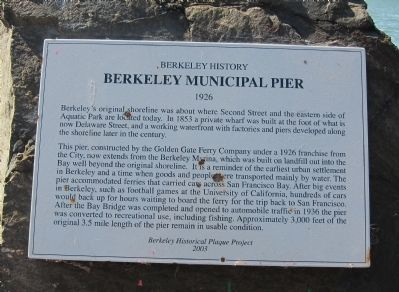 Berkeley Municipal Pier Marker Photo, Click for full size